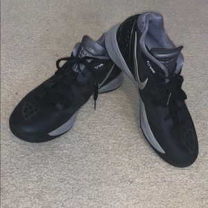 Nike Black and Silver Volleyball Shoe